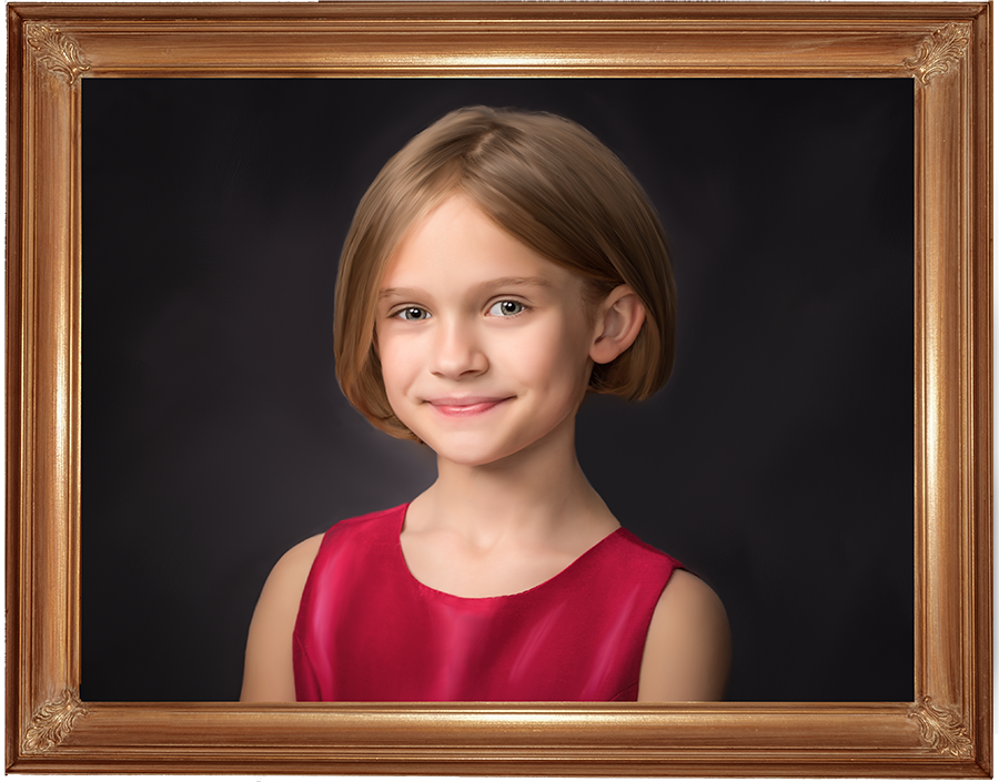 portrait of a girl by hugh anderson photography