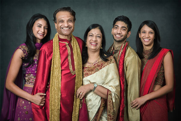 Ad Image. Indian family in traditional dress. Hugh Anderson Photography
