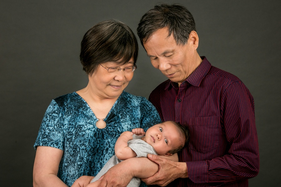 Recent family portraits - Asian grandparents portrait