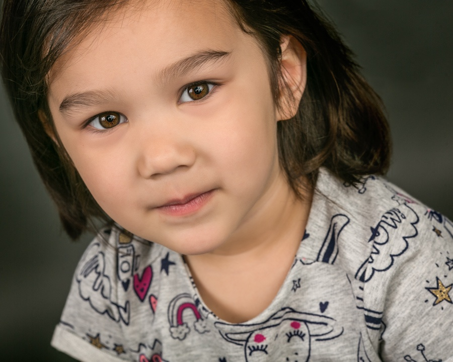 Recent family portraits - Little Asian/American girl portrait