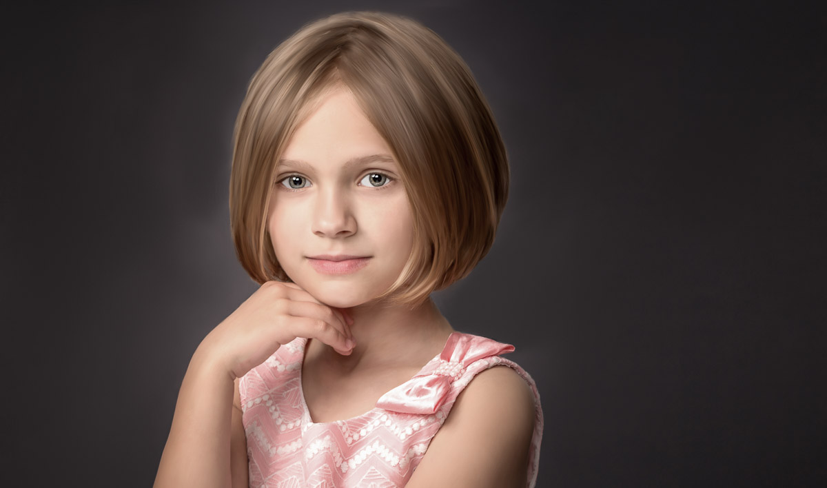 portrait of a young girl by Hugh Anderson Photography, Bloomfield Hills, Michigan.