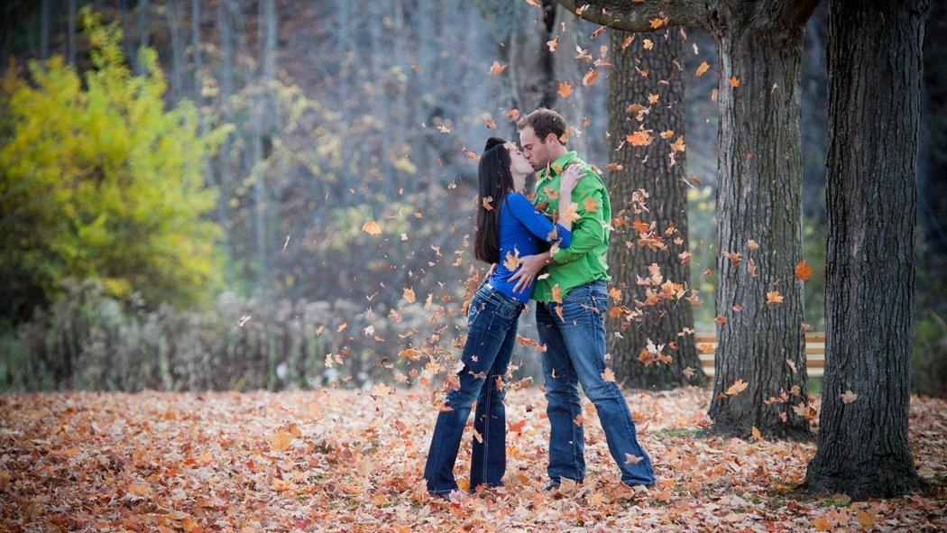 Engagement picure taken at Van Hoosen, Rochester. Hugh Anderson Photography