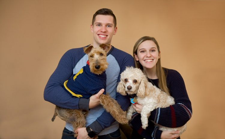 Family portrait with dogs by Hugh Anderson Photography, Bloomfield Hills.